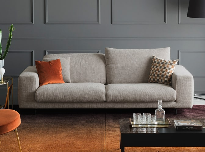 Canapé tissu design calligaris meubles bouchiquet