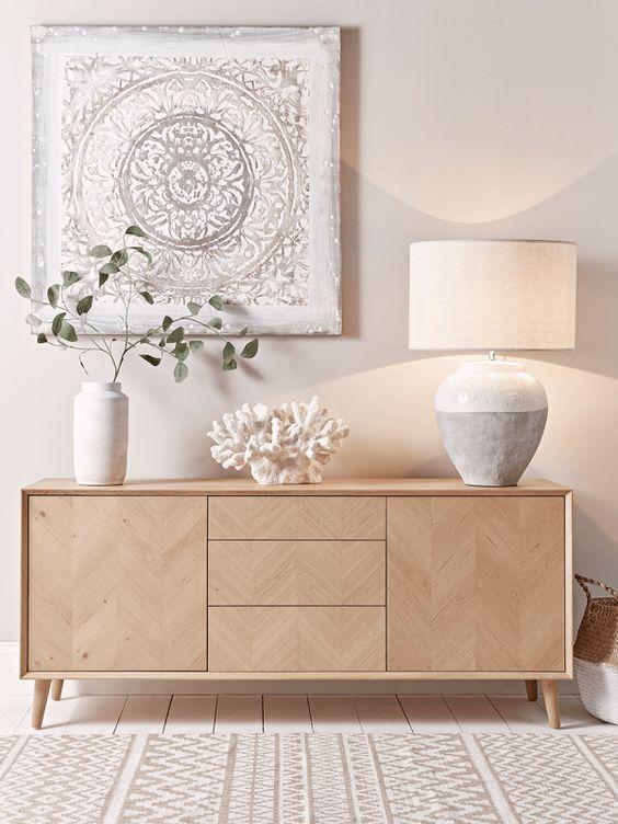 Décoration meuble buffet scandinave nature Meubles Bouchiquet