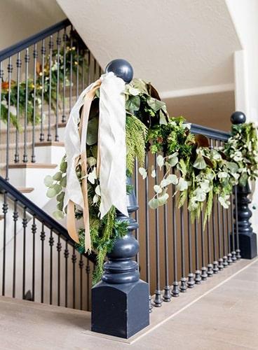 Décoration Noël escalier Meubles Bouchiquet
