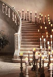 Escalier décoration bougies Meubles Bouchiquet
