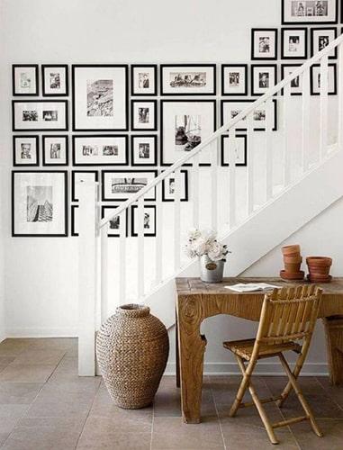 Idée déco cadre dans escalier Meubles Bouchiquet