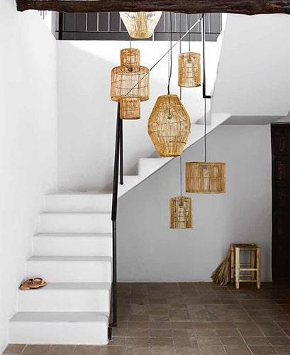 Lampes suspendues escalier Meubles Bouchiquet