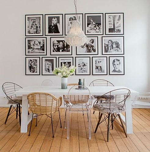 Salle à manger chaises dépareillées Meubles Bouchiquet Bergues