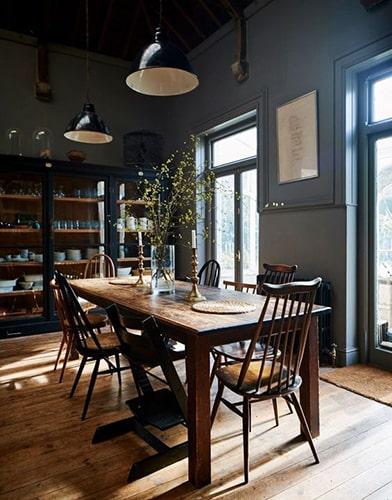 Salle à manger gris bleu Meubles Bouchiquet