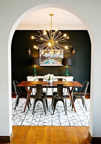Salle à manger noir et blanc Meubles Bouchiquet