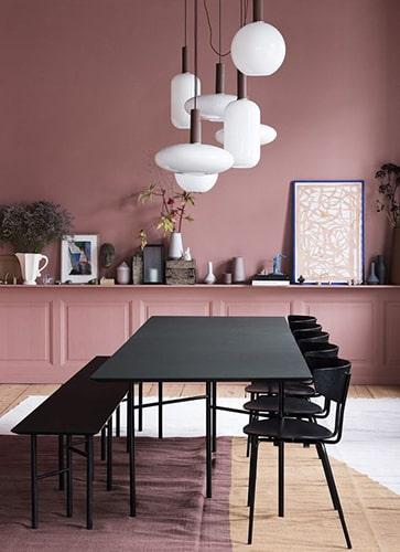 Salle à manger rose Meubles Bouchiquet Bergues