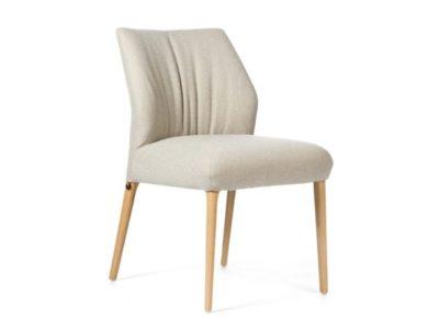 Chaise confortable scandinave tissu creme - Promotion