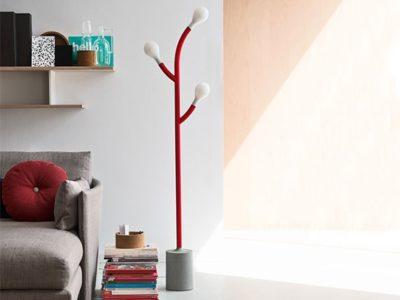 Lampadaire design rouge Calligaris Pom Pom - Promotion