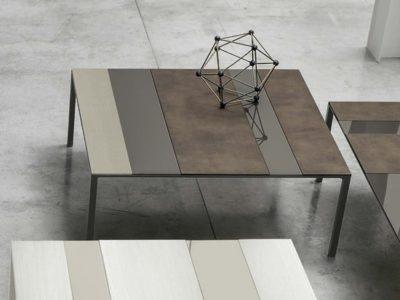 Table basse métal industriel céramique Tomasella - Promotion