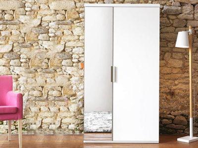 Armoire mini dressing fermé 2 portes Loft - Promotion