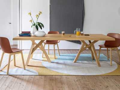 table à manger design bois naturel Calligaris Jungle - Promotion
