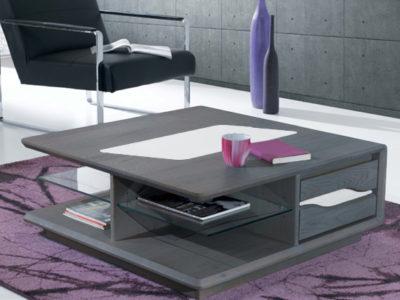 Table basse chêne massif grise Ateliers de Langres - Promotion