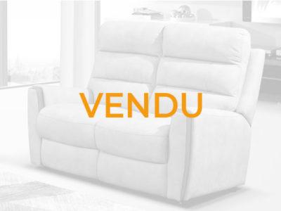 Vendu canapé 2 places gris cocooning microfibre Promotion