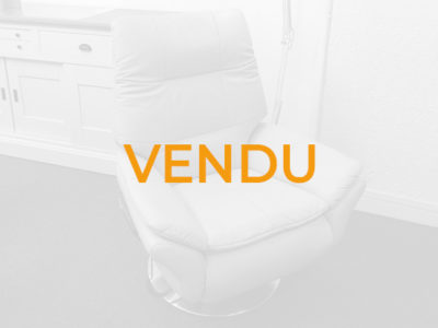 Vendu fauteuil de relaxation électrique massant chauffant en cuir gris clair - Promotion