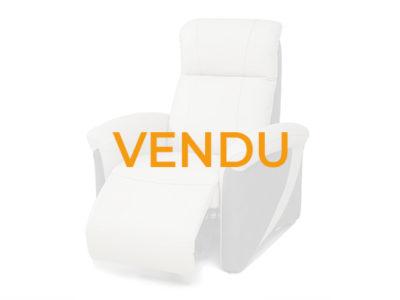 Vendu Fauteuil relax électrique cuir beige microfibre gris promotion