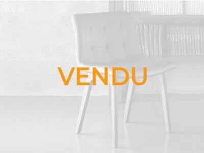 Vendu lot chaises design cuir marron Bontempi Casa Kuga