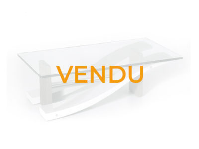 Vendu - Table basse en verre moderne - Promotion