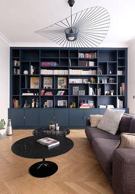 Bibliothèque meuble sur mesure Meubles Bouchiquet