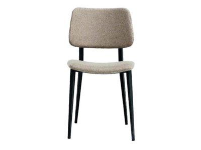 Chaise design vintage tissu gris Midj Meubles Bouchiquet