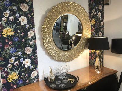 Miroir doré rond 110cm Meubles Bouchiquet
