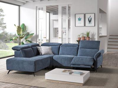 Canapé angle relax en tissu personnalisable - Meubles Bouchiquet