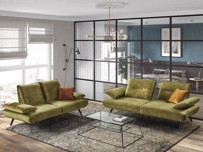 Canapé design 2 et 3 places avec accoudoirs réglables - Meubles Bouchiquet
