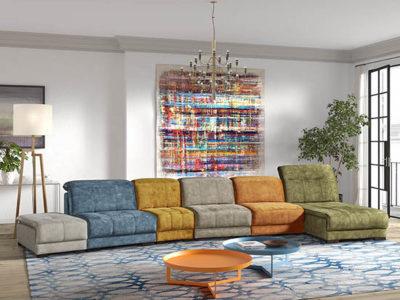 Canapé modulable multicolore relax personnalisable Meubles Bouchiquet