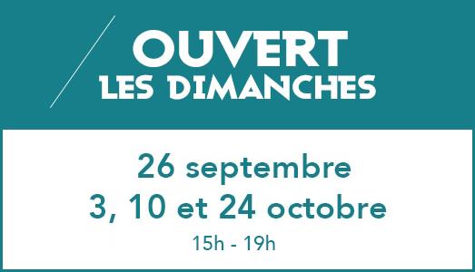 Reprise Meuble et Salon - Ouvertures les dimanches 26/09 - 3, 10 et 24/10